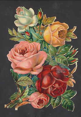 S6616 Victorian Die Cut Scraps: Large Bunch of Roses