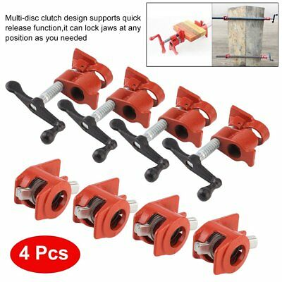 3/4inch 4PCS 50mm Gluing Pipe Clamp Carpenter Woodworking Vice Hand Tool AU NEW