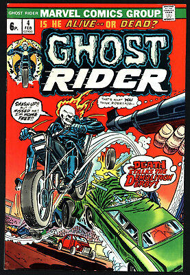 Ghost Rider #4 Very Glossy Copy With White Pages From 1974