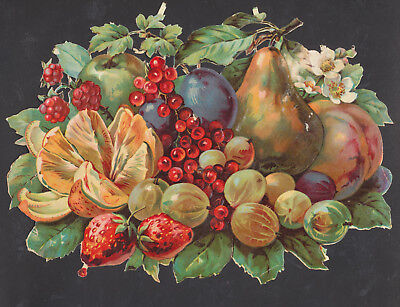 S6620 Victorian Die Cut Scraps: V Large Fruit Bunch