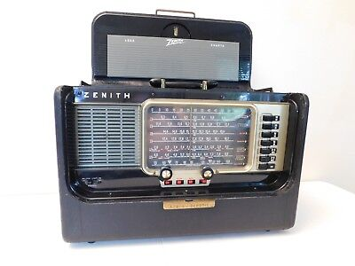Vintage Near Mint Classic Old Zenith Antique Transoceanic Radio Working  , L@@k
