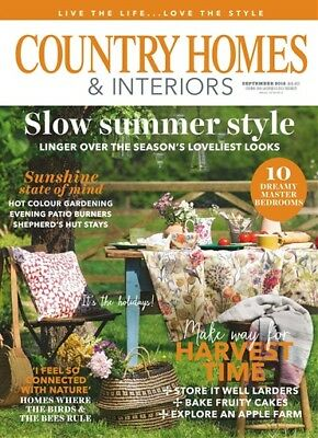 New Country Homes & Interiors Magazine September 2018