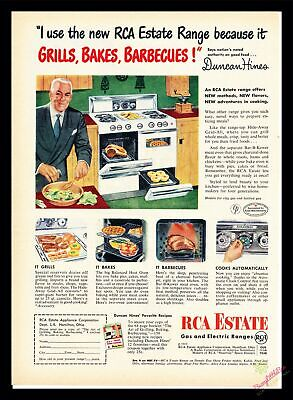 Print Ad~1953~RCA Estate Gas and Electric Ranges~Duncan Hines Founder~I300