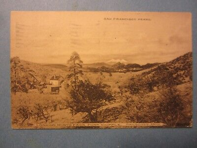 Old Vintage 1909 - PRESCOTT ARIZONA - POSTCARD - Looking North from Fort Whipple