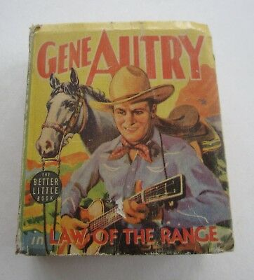 Old Vintage 1939 - GENE AUTRY in Law on the Range - Better Little Book - 1483