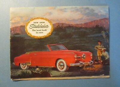 Old Vintage 1950 - STUDEBAKER -  Car / Automobile Advertising Brochure