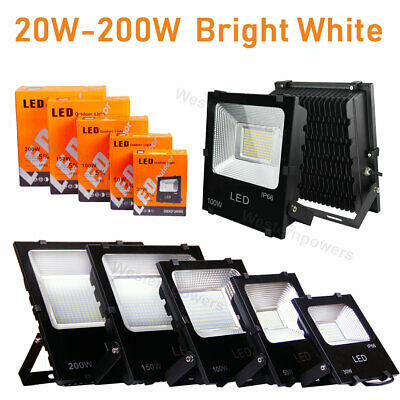 20W 30W 50W 100W 150W 200W LED Flood Light Landscape Outdoor Security Spot Lamp