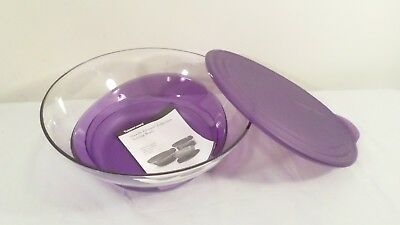 Never used Tupperware Sheerly Elegant Serving Acrylic Bowl 3.2L Amethyst/Clear