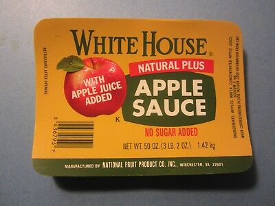 WHOLESALE LOT OF 100 Old Vintage - White House APPLE SAUCE LABELS - with  Juice