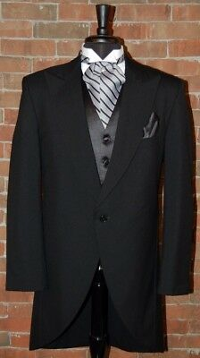 Mens 48 R Black Classic Fit Cutaway / Morning Coat Tuxedo Jacket by Lord West