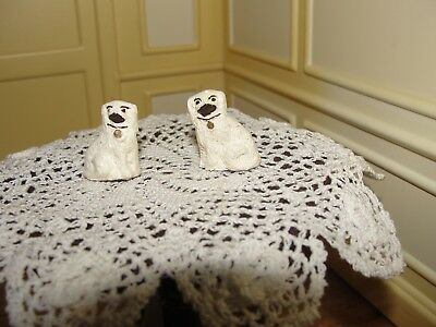 Dollhouse Miniature Pair of Staffordshire Dogs  England