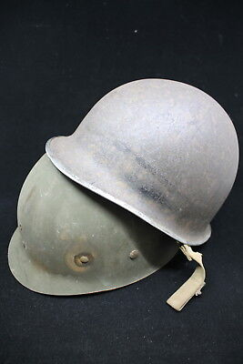 WW2 US Army Front Seam Fixed Bale M1 Combat Helmet & Liner
