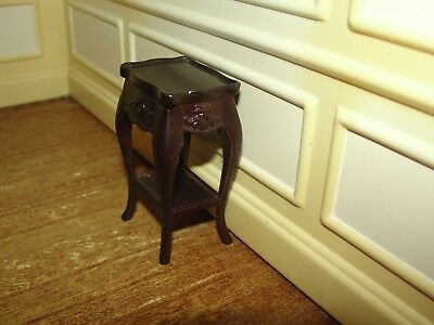 Dollhouse Miniature Mahogany Tall Table    Bespaq