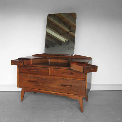 Dressing Table Mirror Mid Century 1970s Vintage GPlan Chest Drawers Bedroom