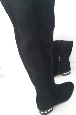 ba2dce32f39 New Catherine Malandrino Pasta Pearl Over The Knee suede Boots women s