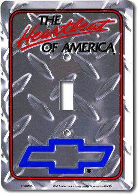 The heartbeat of America Chevrolet Diamond Cut House Light Switch Plate Cover