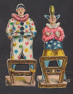 S6715 Victorian Die Cut Scraps: 2 Large Clowns