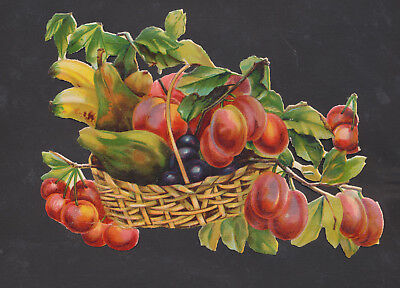 S6717 Victorian Die Cut Scraps: Large Fruit Basket