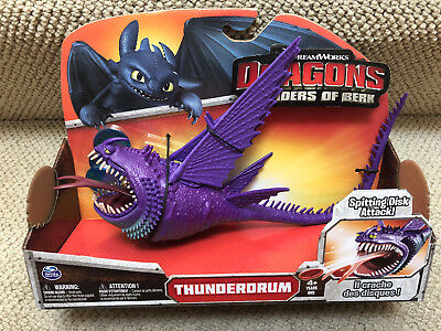 THUNDERDRUM purple How to Train your Power Dragon / Berk movie Toy Action Figure