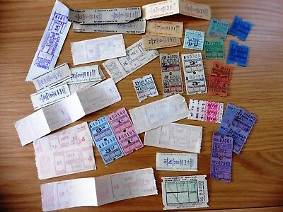 Selection of Old UK Bus Tickets - all in good condition