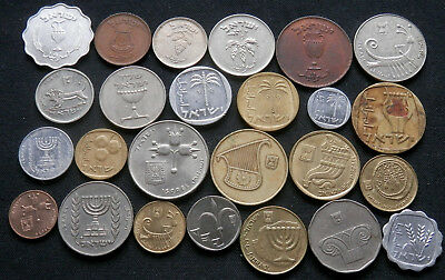 Israel, 25 Different Type Coins, Old And New