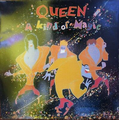 Lp -  Queen = A Kind Of Magic - Songtexte - 1986  Klappcover   (Made In Holland)