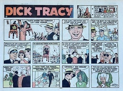 Dick Tracy by Chester Gould - large half-page color Sunday comic - Aug. 18, 1974