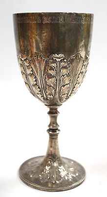 Antique Barker Bros Silver Plated GOBLET/CUP Westhall & District Challenge - B94