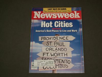 1989 February 6 Newsweek Magazine - Hot Cities, Best Places To Live/Work- Nw 920