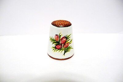 Thimble Copper & Enamel Heather On Each Side Beauty!!