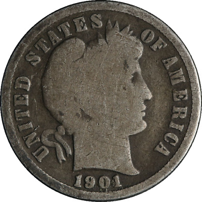 1901-S Barber Dime Great Deals From The Executive Coin Company
