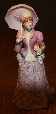 "Home Interior Lady Figurine ""Miss Violet""; # 14502-98"