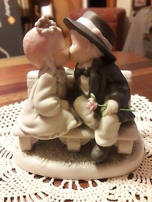 Kim Anderson's Pretty As A Picture #292117 Child Figurine Kissing On Bench
