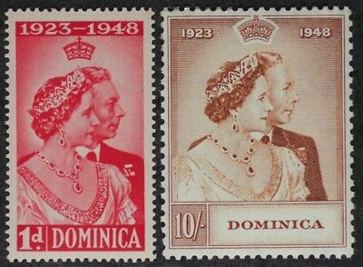 Dominica 1948  George Vi Silver Wedding Mint Nh