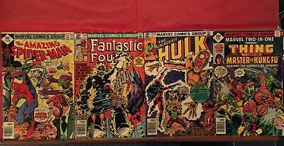 LOT OF 4 MARVEL COMICS Amazing Spider-Man 170, Hulk 259, FF 229, Two In One 29!