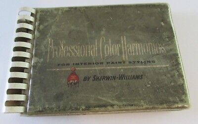 Vtg Mid Century Sherwin Williams Paint Chips Color Selector Guide