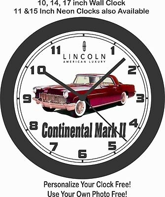 1956 Lincoln Continental Mark Ii Wall Clock-Free Usa Ship