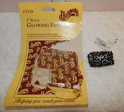 """Houseworks 1"""" Scale Glowing Ember Dollhouse Miniature"""