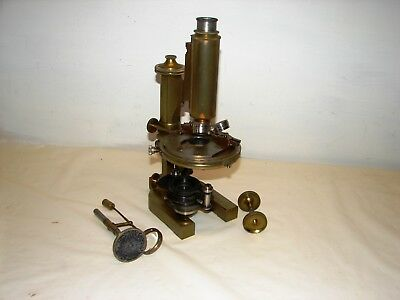 antique brass Bausch & Lomb microscope serial # 29961