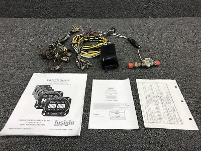610C-001 Insight Corp Engine Monitor System W/ Probes, Manuals (V: 10-30)