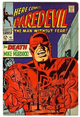 Daredevil #41 (1968) F/VF New Marvel Silver Bronze Collection