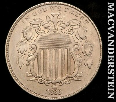 1868 Shield Nickel-Choice Almost Uncirculated!! Luster!!  #b9154