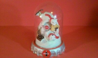 Coca Cola Polar Bears Figurine Dome Glass Ice Cold Fun The Franklin Mint Figure