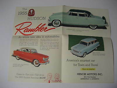 1955 Hudson Rambler Dealership Brochure