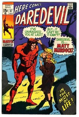 Daredevil #57 (1969) VF+ New Marvel Silver Bronze Collection