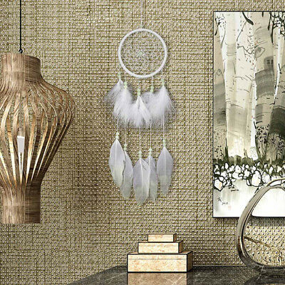 Handmade Dream Catcher With Feathers Bead Wall Hanging Decoration Decor Ornament