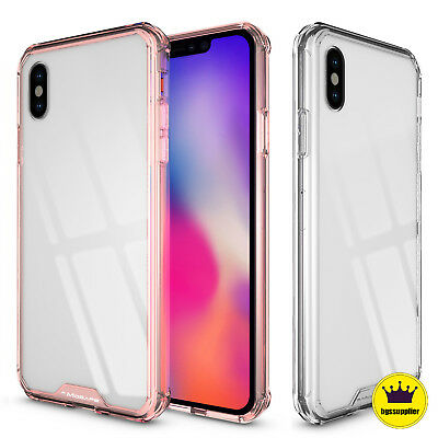 For iPhone XS Max XR X Clear Case Ultra Hybrid Transparent Shockproof Case Cover