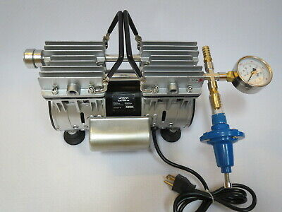 Regulated Twin Piston Oilless Vacuum Pump 4.5CFM 1/2 HP Cow/Goat Milker Pulsator