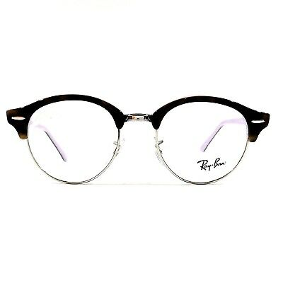 ada67315237 New Ray Ban CLUBROUND Eyeglasses RX Frame RB4246V 5240 Tortoise Violet 47-19 -140