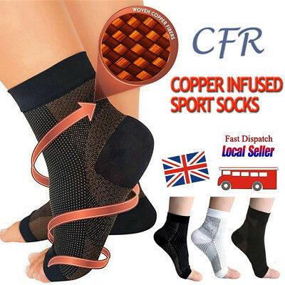 Plantar Fasciitis Compression Socks Heel Foot Arch Pain Relief Support Splint